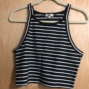 MADEWELL striped crop tank